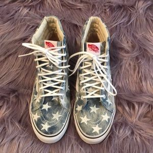 Vans high tops with stars